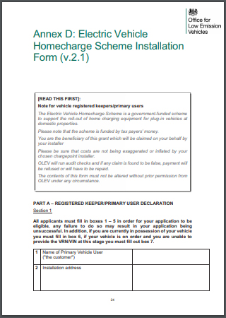 Annex D application form download