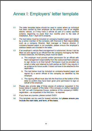 Annex I Employers letter template