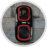 Rolec black and red wallpod